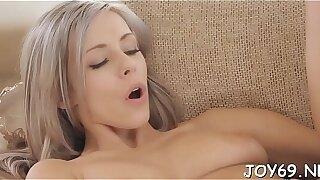 Teen rubs slit to get orgasm