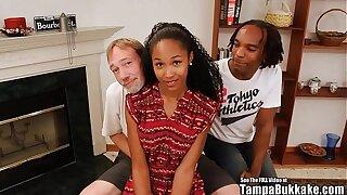 Tampa Bukakke Girls - 18yo black teen cheerleader fuckee suckee!