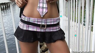 Skinny Schoolgirl Gets Creampied By Stranger