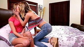 Kota Sky and Jillian Janson Hot Teen Lezzies