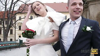 HUNT4K. Married couple decides to sell bride's cunny for good
